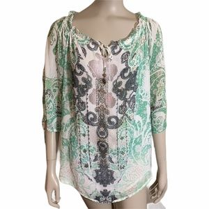 5/25.00 Style and Co Boho Top